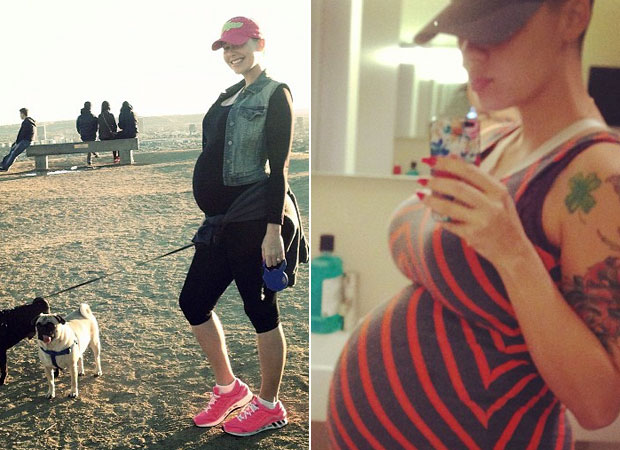 Model Amber Rose Shows Off Huge Baby Bump at 31 Weeks (PHOTOS)