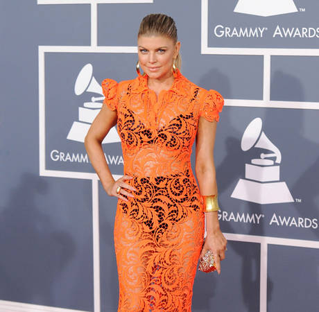 Get Fergie's Gorgeous Red Carpet Beauty Look From the 2012 Grammys