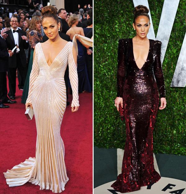 Jennifer Lopez's 2012 Oscar Gowns: Which Dress Did You Like Best?