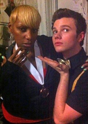 NeNe Leakes and Chris Colfer: Together on the Glee Set! RHoA Star Tweets Goofy Photo