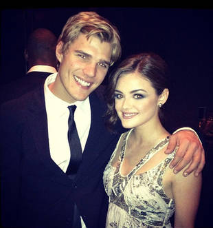Cute Photo of the Day! Chris Zylka and Lucy Hale Cuddle Up at the Cosmo Awards