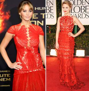 Katniss vs. Quinn! Hunger Games' Jennifer Lawrence vs. Glee's Dianna Agron: Who Wore It Best?
