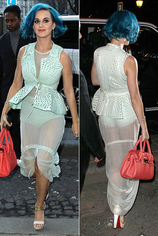 Katy Perry Flashes Her Granny Panties in a See-Through Dress: Hot or Not?