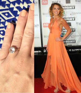 Miley Cyrus Wears Huge Rock on Her Ring Finger, Sparking Engagement Rumors (PHOTO)