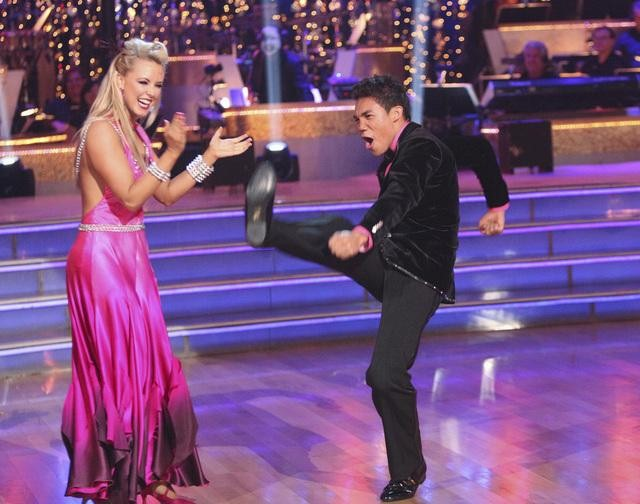 DWTS' Chelsie Hightower Nearly Had a Nip Slip During Season 14's Latin Week