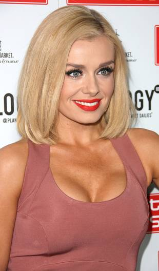 Cleavage Alert: Katherine Jenkins Gets Extra Perky in Low-Cut Dress (PHOTOS)