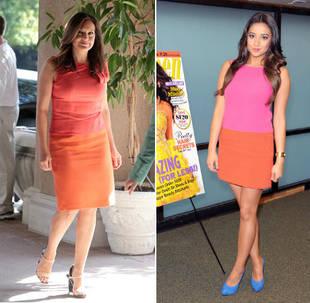 Shay Mitchell vs. Mariska Hargitay: The Battle of the Bright Dresses!