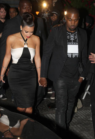 Date Night! Kim Kardashian and Kanye West Wear Coordinating Outfits