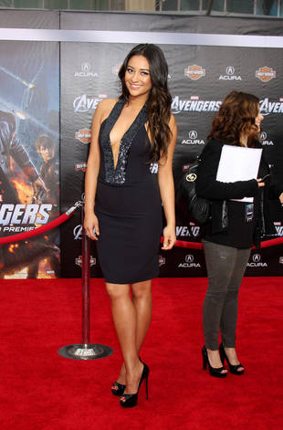 Pretty Little Liars' Shay Mitchell Wears Sexy Low-Cut Dress: Hot or Not?