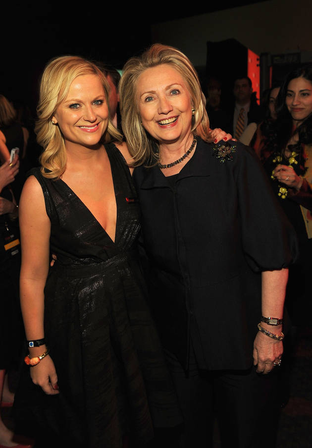 Amy Poehler and Hillary Clinton Play Nice at TIME 100 Gala (PHOTO)
