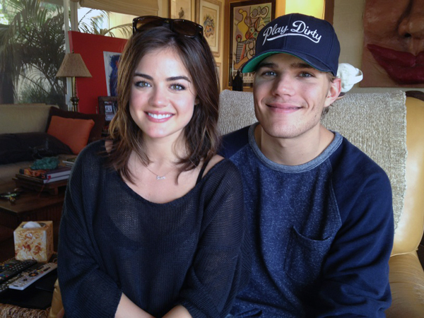 Pretty Little Liars' Lucy Hale Wears a See-Through Shirt While Cuddling Up to Boyfriend Chris Zylka: Cute Secret Circle Pic of the Day