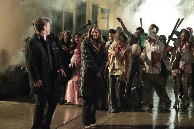 "Behind the Scene of Castle Season 4, Episode 22: ""Undead Again"" (PHOTOS)"