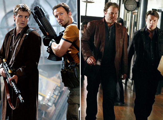Browncoats Then and Now: Nathan Fillion and Adam Baldwin in Firefly vs. Castle (PHOTO)