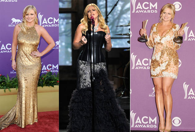 Miranda Lambert Wears Three Different Dresses to the 2012 ACM Awards: Which Is Your Favorite?