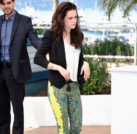 Kristen Stewart's Bright Yellow Balenciaga Pants: HOT or NOT?
