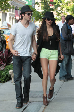 Nina Dobrev and Ian Somerhalder Hold Hands in NYC: Vampire Diaries Cute Pic of the Day