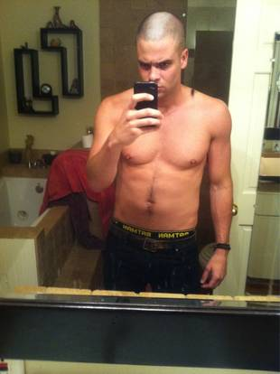 OMG! Mark Salling Shaves His Mohawk, Shows Off Abs!