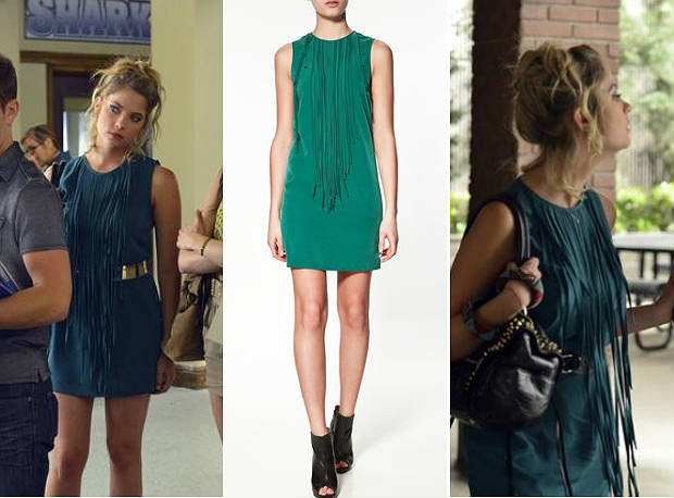 Pretty Little Liars Fashion: Get Hanna's Green Fringe Dress From the Season 3 Premiere