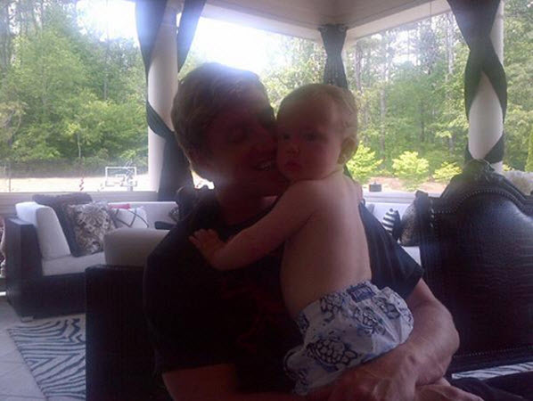 Kroy Biermann and Baby KJ Look Cute For the Camera (PHOTO)