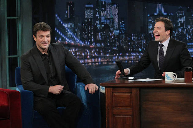 Castle Star Nathan Fillion on Late Night With Jimmy Fallon on May 4, 2012: Part 1 and Part 2 (VIDEOS)