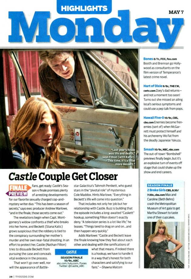 Andrew Marlowe Teases Castle and Beckett Finale Hookup in the May 7 Issue of TV Guide