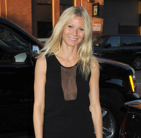 Gwyneth Paltrow Goes Braless in See-Through Dress (PHOTO)