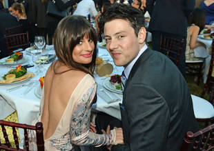 Lea Michele and Cory Monteith's Kissy Date Night: Glee Sweethearts Attend the Chrysalis Butterfly Ball