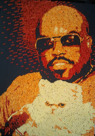 This Portrait of Cee Lo Green Made Entirely of Cheetos Can Be Yours