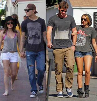 Who's the Cuter Couple: Lucy Hale & Chris Zylka or Miley Cyrus & Liam Hemsworth? (PHOTO)