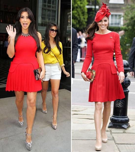 Who Wore It Best? Kim Kardashian vs. Kate Middleton in Alexander McQueen