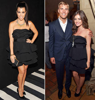 Who Wore It Best? Kourtney Kardashian vs. Lucy Hale in a Ted Baker LBD