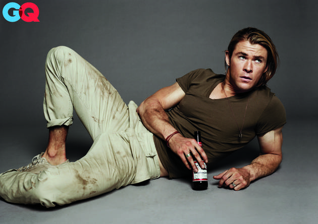 Chris Hemsworth Is Ruggedly Handsome — and Dirty — in the July 2012 Issue of GQ