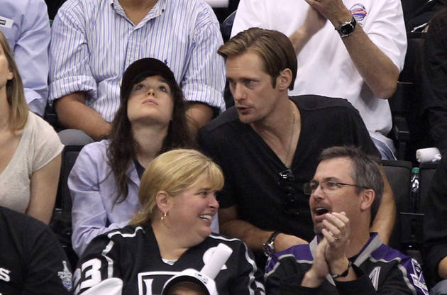 Spotted: Alexander Skarsgard and Ellen Page Catch Some Hockey at Stanley Cup Finals
