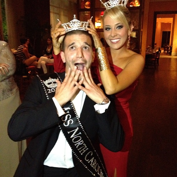 Mark Ballas Gets Crowned Miss North Carolina (But Mostly He Plays Guitar and Sings)