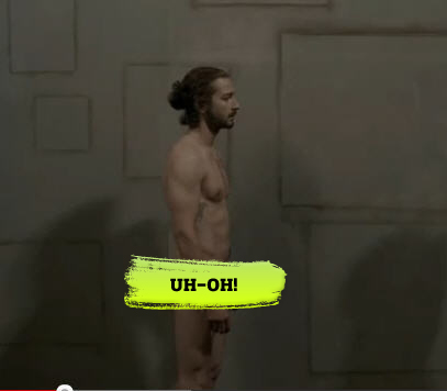 OMG — Check Out Shia LaBeouf Nude in New Music Video!