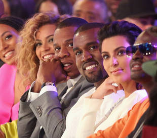 Kim Kardashian and Kanye West Join Beyonce and Jay-Z at the BET Awards