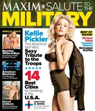 Kellie Pickler Salutes the Troops in Sexy Military Garb on Maxim Cover