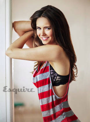Nina Dobrev Flashes Her Bra For Esquire Magazine — Vampire Diaries Hot Pic of the Day