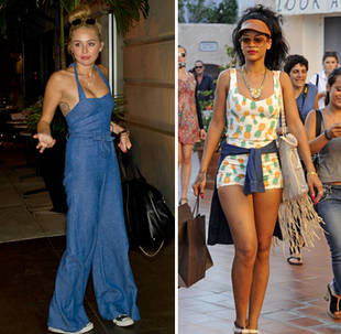 Miley Cyrus vs. Rihanna: Who Wore the Jumper Best? (PHOTOS)