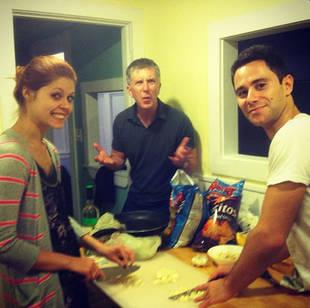 DWTS's Tom Bergeron, Anna Trebunskaya & Sasha Farber Prepare to Eat … Garlic? (PHOTO)
