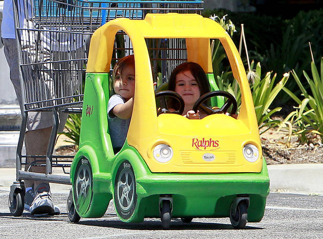 Kardashian Cute Pic of the Day! Mason Takes a Girl For a Joyride