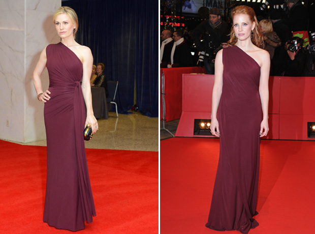 Anna Paquin vs. Jessica Chastain: Who Wore It Best?