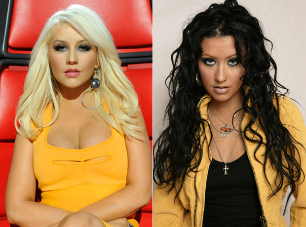 Christina Aguilera Blonde vs. Brunette: Which Hair Color Is Hotter?
