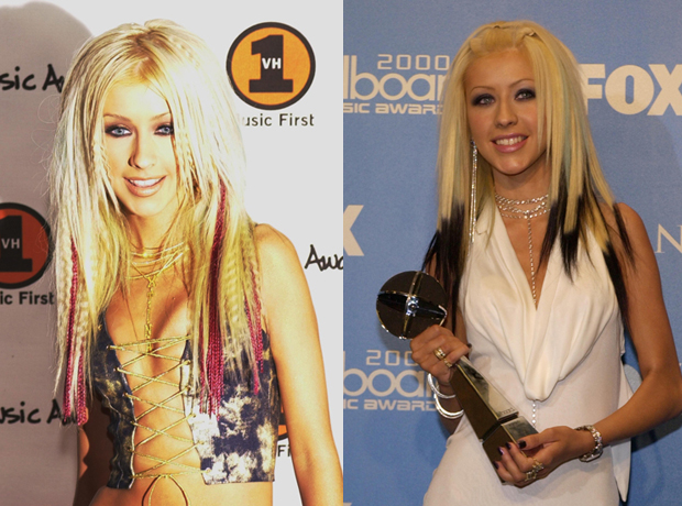 Christina Aguilera Red Tips vs. Black Tips: Which Hairstyle Is Hotter?