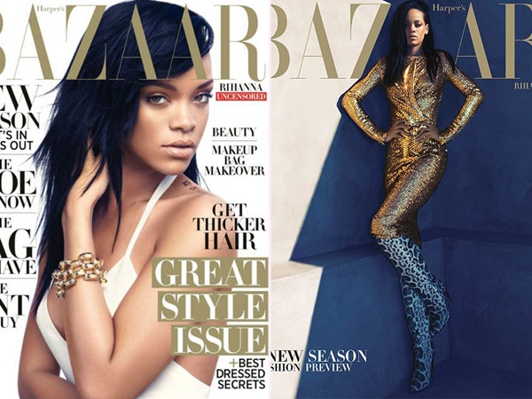 Rihanna on Harper's Bazaar For August 2012: Which Cover Is Hotter?