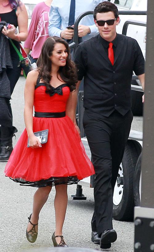 "Glee's Lea Michele: Boyfriend Cory Monteith ""Makes Me Work Harder"""