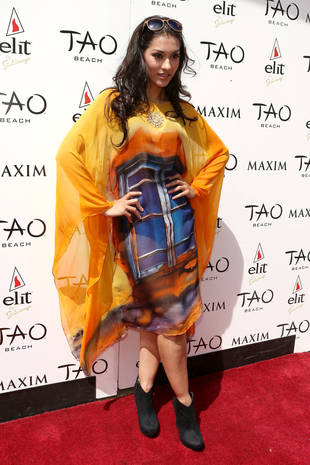True Blood's Janina Gavankar in Crazy-Colored Tunic: Hot or Not? (PHOTO)