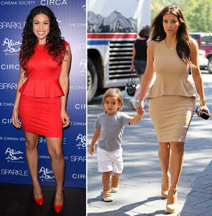 Who Wore It Best? Jordin Sparks vs. Kim Kardashian in Pretty Peplum Frocks