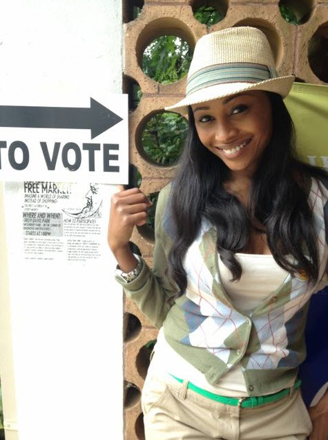 Cynthia Bailey's Chic Voting Outfit: Hot or Not?