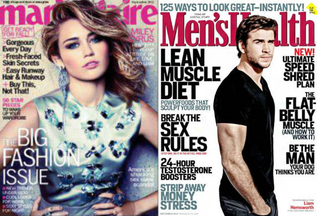 Miley Cyrus vs. Liam Hemsworth: Steamy September Cover Face-Off! (PHOTOS)